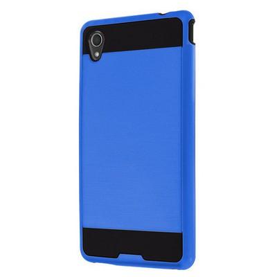Microsonic Sony Xperia M4 Aqua Kılıf Slim Fit Dual Layer Armor Mavi Cep Telefonu Kılıfı