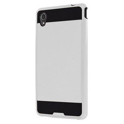 Microsonic Sony Xperia M4 Aqua Kılıf Slim Fit Dual Layer Armor Beyaz Cep Telefonu Kılıfı
