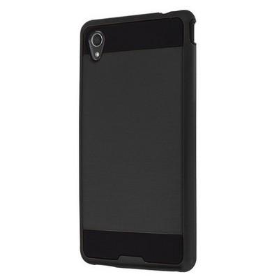 Microsonic Sony Xperia M4 Aqua Kılıf Slim Fit Dual Layer Armor Siyah Cep Telefonu Kılıfı