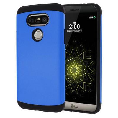 Microsonic Lg G5 Kılıf Slim Fit Dual Layer Armor Mavi Cep Telefonu Kılıfı