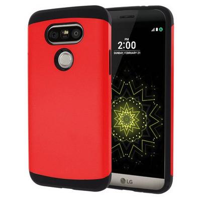 Microsonic Lg G5 Kılıf Slim Fit Dual Layer Armor Kırmızı Cep Telefonu Kılıfı