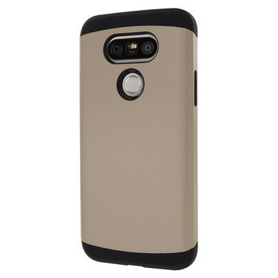 Microsonic Lg G5 Kılıf Slim Fit Dual Layer Armor Gold Cep Telefonu Kılıfı