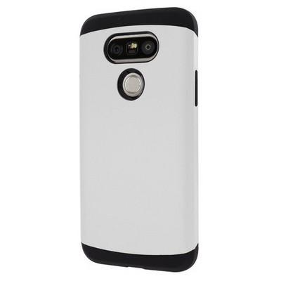 Microsonic Lg G5 Kılıf Slim Fit Dual Layer Armor Beyaz Cep Telefonu Kılıfı