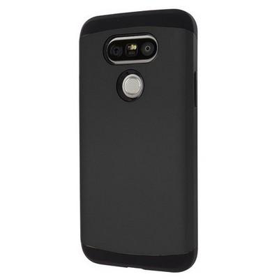 Microsonic Lg G5 Kılıf Slim Fit Dual Layer Armor Siyah Cep Telefonu Kılıfı