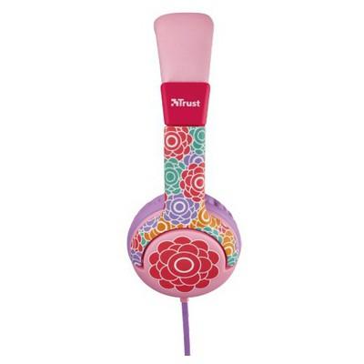 Trust Urban 20954 Spıla Çocuklar İçin Çiçek Desenli Kulaklık Kafa Bantlı Kulaklık