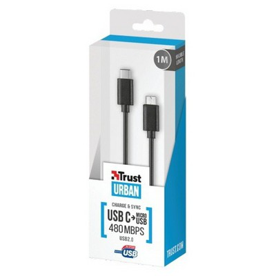 Trust Urban 21316 2.0 Usb C To Mikro Usb Kablo 1m USB Kablolar