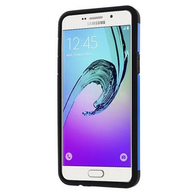Microsonic Samsung Galaxy A7 2016 Kılıf Slim Fit Dual Layer Armor Mavi Cep Telefonu Kılıfı
