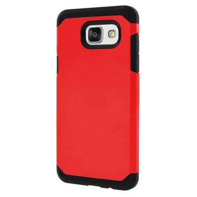 Microsonic Samsung Galaxy A7 2016 Kılıf Slim Fit Dual Layer Armor Kırmızı Cep Telefonu Kılıfı