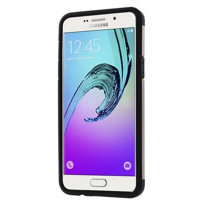 Microsonic Samsung Galaxy A7 2016 Kılıf Slim Fit Dual Layer Armor Gold Cep Telefonu Kılıfı