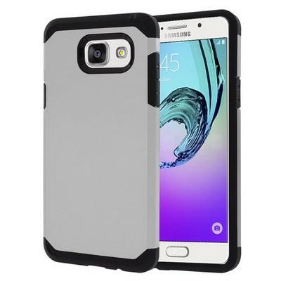 Microsonic Samsung Galaxy A7 2016 Kılıf Slim Fit Dual Layer Armor Gümüş Cep Telefonu Kılıfı