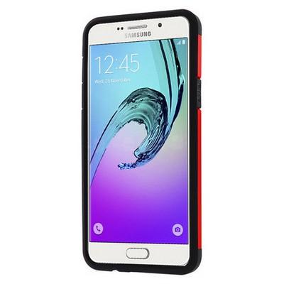 Microsonic Samsung Galaxy A5 2016 Kılıf Slim Fit Dual Layer Armor Kırmızı Cep Telefonu Kılıfı
