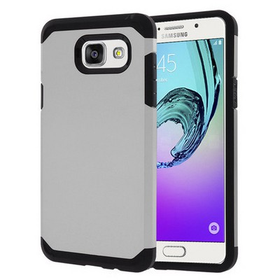 Microsonic Samsung Galaxy A5 2016 Kılıf Slim Fit Dual Layer Armor Gümüş Cep Telefonu Kılıfı
