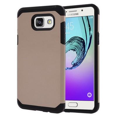 Microsonic Samsung Galaxy A5 2016 Kılıf Slim Fit Dual Layer Armor Gold Cep Telefonu Kılıfı