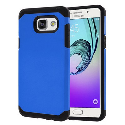 Microsonic Samsung Galaxy A3 2016 Kılıf Slim Fit Dual Layer Armor Mavi Cep Telefonu Kılıfı