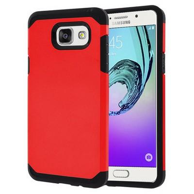 Microsonic Samsung Galaxy A3 2016 Kılıf Slim Fit Dual Layer Armor Kırmızı Cep Telefonu Kılıfı