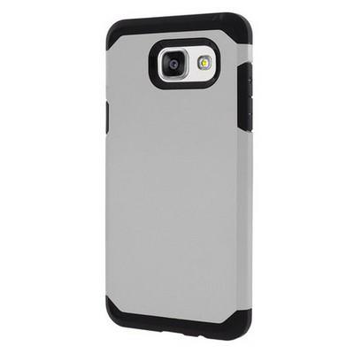 Microsonic Samsung Galaxy A3 2016 Kılıf Slim Fit Dual Layer Armor Gümüş Cep Telefonu Kılıfı