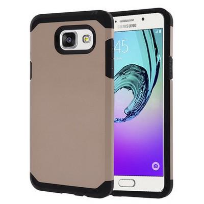 Microsonic Samsung Galaxy A3 2016 Kılıf Slim Fit Dual Layer Armor Gold Cep Telefonu Kılıfı
