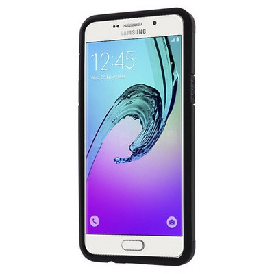 Microsonic Samsung Galaxy A3 2016 Kılıf Slim Fit Dual Layer Armor Siyah Cep Telefonu Kılıfı