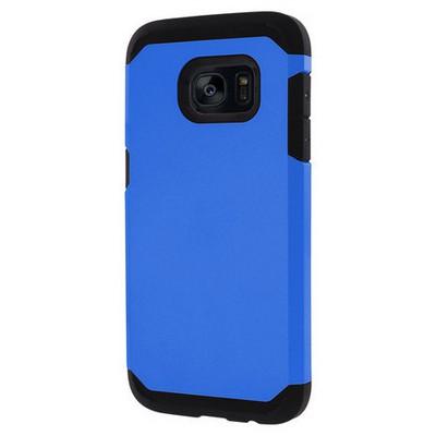 Microsonic Samsung Galaxy S7 Edge Kılıf Slim Fit Dual Layer Armor Mavi Cep Telefonu Kılıfı