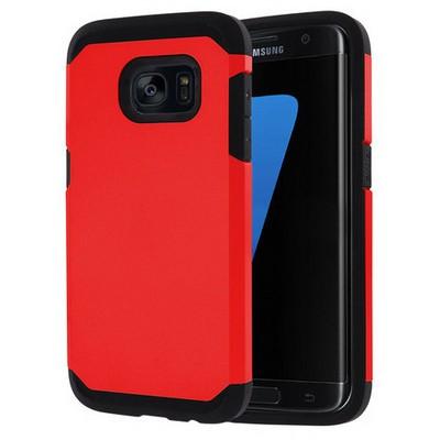 Microsonic Samsung Galaxy S7 Edge Kılıf Slim Fit Dual Layer Armor Kırmızı Cep Telefonu Kılıfı