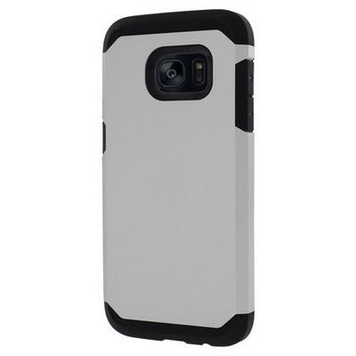 Microsonic Samsung Galaxy S7 Edge Kılıf Slim Fit Dual Layer Armor Gümüş Cep Telefonu Kılıfı