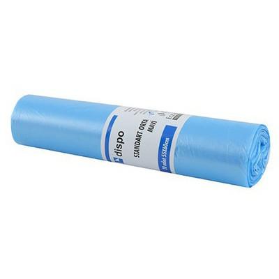 Dispo Standart Orta Mavi Çöp Torbası 20 Adet 55x60 Cm Çöp Torbaları