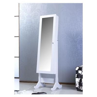Bestline Aynalı Takı ve Aksesuar Dolabı (Ayaklı) - Beyaz Takı Dolabı