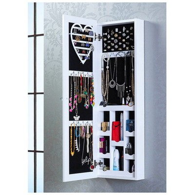 Bestline Aynalı Takı ve Aksesuar Dolabı (Duvara Asma) - Beyaz Mobilya