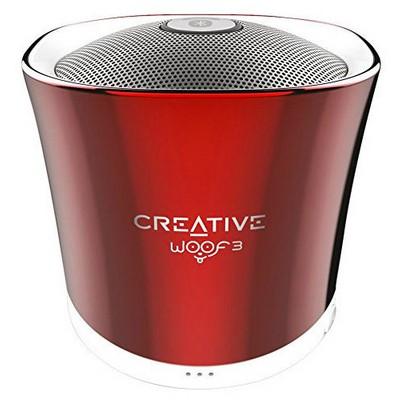 Creative WOOF3 Kişisel Kırmızı Kablosuz Speaker