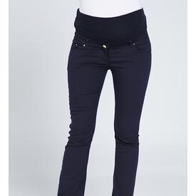 GöR&SIN Görsin Dar Paça Hamile Kanvas Pantalon Lacivert 46 Pantolon, Şort, Tayt