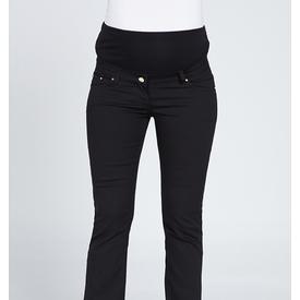 GöR&SIN Görsin Dar Paça Hamile Kanvas Pantalon Siyah 44 Pantolon, Şort, Tayt
