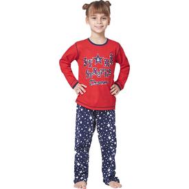Roly Poly 2854 Uzun Kol Kız Çocuk Pijama Takımı Kırmızı 2 Yaş (92 Cm) Kız Bebek Pijaması