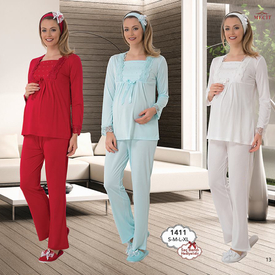 mecit-lohusa-pijama-takim-ekru-xl