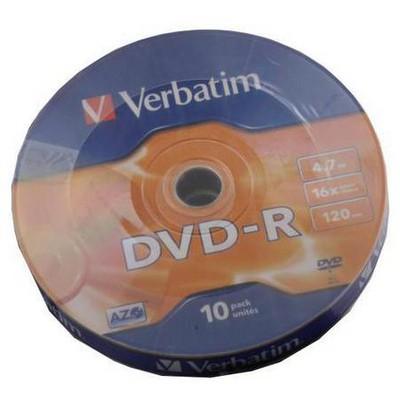 Verbatim Dvd-r 4.7 16x 120mın 10 Lu Spındle CD/DVD