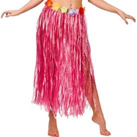 Parti Paketi Hawaii Eteği, Kırmızı Uzun Yetişkin Kostümleri