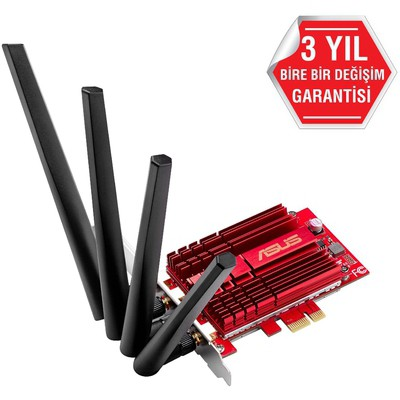 Asus PCE-AC88 AC3100 Dual-Band PCIe Wi-Fi Ağ Adaptörü