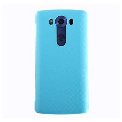 Microsonic Lg V10 Kılıf View Delux Kapaklı Akıllı Mavi Cep Telefonu Kılıfı
