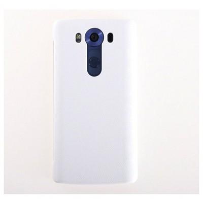 Microsonic Lg V10 Kılıf View Delux Kapaklı Akıllı Beyaz Cep Telefonu Kılıfı