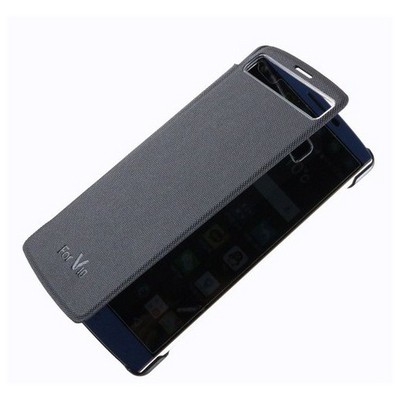 Microsonic Lg V10 Kılıf View Delux Kapaklı Akıllı Siyah Cep Telefonu Kılıfı