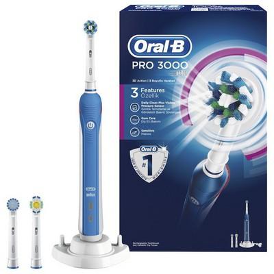 Oral-B Pro 3000 D20 Şarj Edilebilir Diş Fırçası