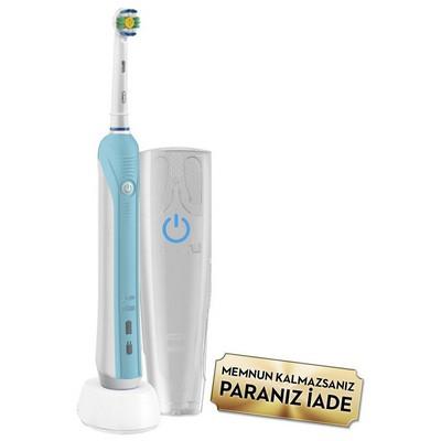 Oral-B Pro 750  3D White (Seyahat Kabı Hediyeli!) Şarjlı Diş Fırçası