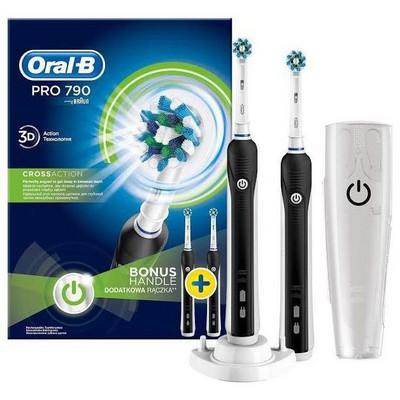 Oral-B Pro 790 Siyah 2'li Avantaj Paketi Şarjlı Diş Fırçası