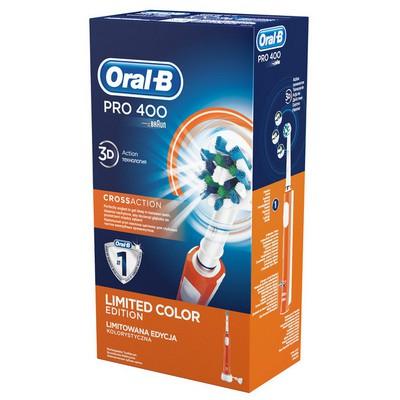 Oral-B Pro 400 CrossAction Şarjlı Diş Fırçası - Turuncu