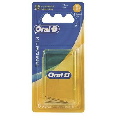 Oral-B Arayüz Diş Fırçası Yedeği Düz 6 Adet Ağız ve Diş Bakımı