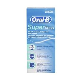 Oral-B Oral-B Diş İpi Super Floss 50 Adet Ağız Gargarası
