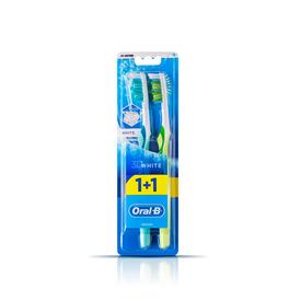 Braun Oral-B Diş Fırçası 3 Boyutlu Beyazlık 40 Orta 1 Alana 1 Bedava Paketi Ağız ve Diş Bakımı