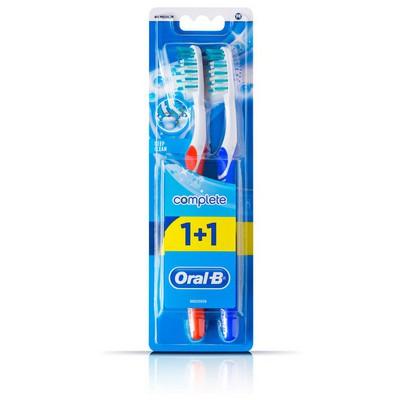 Braun Oral-B Diş Fırçası Complete Ekstra Uzun Kıllar 40 Orta 1 Alana 1 Bedava Paketi Ağız ve Diş Bakımı