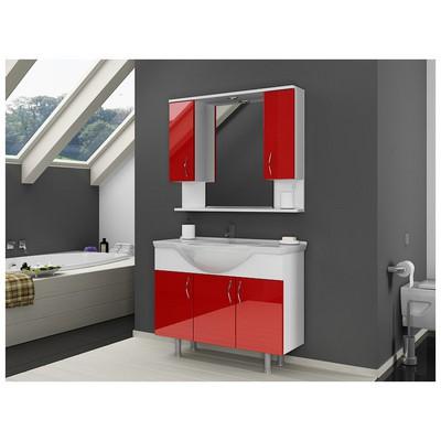 Bestline Vira 100 cm  - Kırmızı Banyo Dolabı
