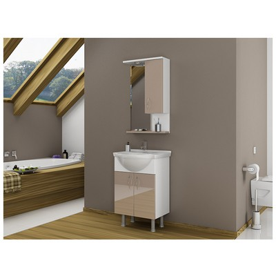 Bestline Vira 55 cm Banyo Dolabı - Capuccino Banyo Gereçleri
