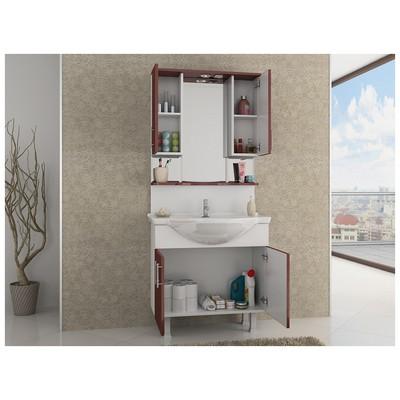 Bestline Membran Series Seramik Lavabolu Banyo Dolabı Libra 80 Banyo Gereçleri